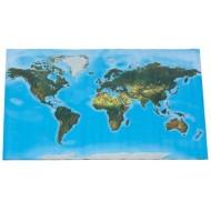 Begehbare physische Weltkarte, 180 x 110 cm