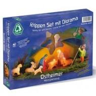 Krippen Set mit Diorama 11-teilig