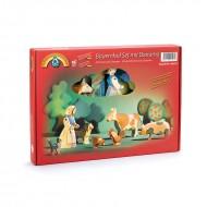 Bauernhof Set mit Diorama 8-teilig