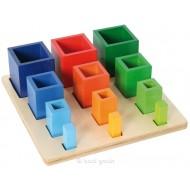 Sortierspiel - Farbige Säulen