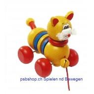 Nachziehspielzeug -Katze