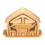 Bunte Formenwelt - Haus mit Möbel, natur