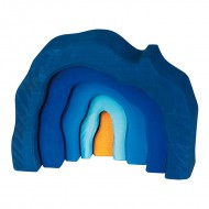 Bunte Formenwelt - Höhlen-Set 5-teilig, blau