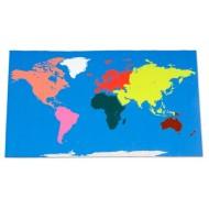 Begehbare Weltkarte in Montessori-Farben, 180 x 110 cm, Teppich