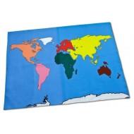 Begehbare Weltkarte auch als Wandkarte -140 x 180 cm