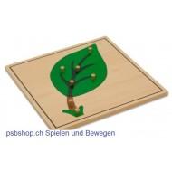 Das Laubblatt - Holzpuzzlekarte in der Größe 24 x 24 cm