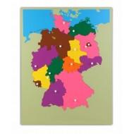 Holzpuzzlekarte Deutschland 57x44,5cm  &  Bundesleänder Lernmaterial
