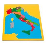 Italien, Übersicht über die einzelnen Regionen Italiens. Puzzlekarte  57 x 44,5 cm