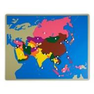 Große Puzzlekarte Asien  57 x 44,5 cm