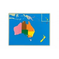 Große Puzzlekarte Australien 57 x 44,5 cm