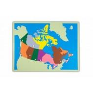 Große Puzzlekarte Kanada  57 x 44,5 cm
