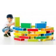 Kartonbausteine Buntbox 48-teilig,  24x11,8x5,8cm