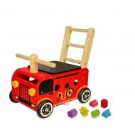 Schiebewagen Feuerwehr, 39x25,5x24,5cm, ab 12 Monaten