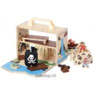 Pirateninsel - Spielkoffer, 20x11x22,5, ab 3 jährig