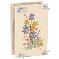 Blumenpresse bunt 15 x 10 x 6 cm, für Jung und Alt