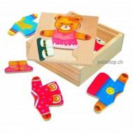 Ankleidepuzzle Berta, 18 Teile, 13x14x4cm, ab 3-jährig