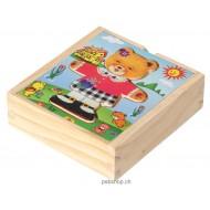 Ankleidepuzzle Berta bunt, 18 Teile, 14x13x4cm, ab 3-jährig