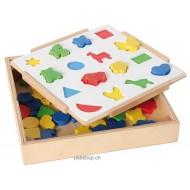 Zuordnungsspiel Farben und Formen für 1-2 Spieler