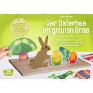 Der Osterhas im grünen Gras für die Erzählschiene