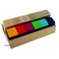 Holz-Lehrer-Stempel 6er-Set