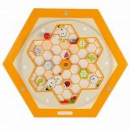 Wandelement Bienenstock - Polle, Labyrinth zum Drehen mit Bienenund Pollenelementen.