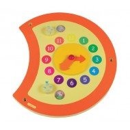 "Wandspielobjekt Raupe ""Uhr"" 35x37cm Alter: ab 1-jährig"