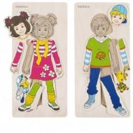 Lagenpuzzle - Anika und Denis, 13 Teile, ab 3-jährig