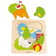 "Entdeckerpuzzle ""Garten"" 9-teilig 205 x 205 x 15 mm, Alter: 4+"
