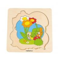 """Entdeckerpuzzle""""Wiese"""" 9-teilig 205 x 205 x 15 mm, Alter: 4+"""