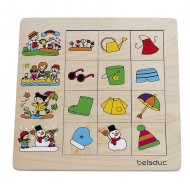 """Legespiel - Sortierpuzzle """"Jahreszeiten"""" 12 Puzzleteile, 1 Rahmen, Alter: 24M+"""