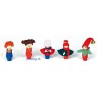 Geburtstag - Stecker-Set Kinder2, H 6cm  5-teilig