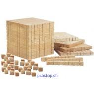 Mathematischer Würfel, 1000-er-Grundsortiment 121-teiliges Set RE-Wood