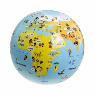 Aufblasbarer Globus auf Reisen