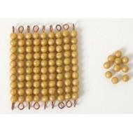 Ersatzperlen für Kasten mit goldenen Zehnerstäbchen