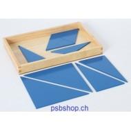 Blaue Dreiecke in 4-eckiger Box