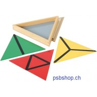 Farbige Dreiecke in 3-eckiger Box
