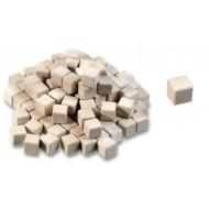 Einerwürfel, Größe: ca. 1 x 1 x 1 cm, 200 Stück in Baumwollsack