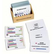 Arbeitskartei zum großen Rechenrahmen, 100 Aufgabenkarten