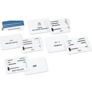 Arbeitskartei zum kleinen Rechenrahmen, 100 Aufgabenkarten