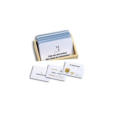 Arbeitskartei zum Goldenen Perlenmaterial, 100 Aufgabenkarten