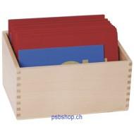 Eine praktische Holzbox für die Sandpapiergroßbuchstaben