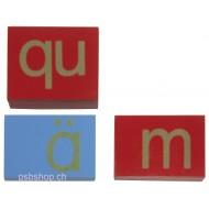 Kleinbuchstaben, Sandpapiertechnik