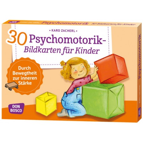 30 Psychomotorik-Bildkarten für Kinder, Alter: 3 bis 8 Jahren