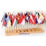 Flaggenständer mit Flaggen (Europa), ab 5 Jahren.