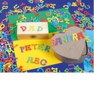 """Moosgummi-Sticker """"Buchstaben"""", 400-teilig"""