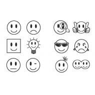 Belobigungsstempel Smile, 12-teilig