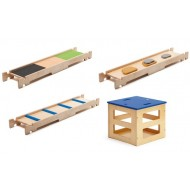 Balancier-, Kletter- und Wahrnehmungsparcours-Set, 4-teilig