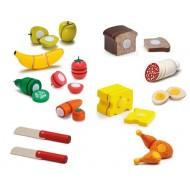 Küchenspielzeug Set zum Schneiden, Obst, Gemüse, Lebensmittel 10-teilig
