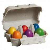 Eier, bunt im Karton