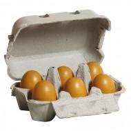 Eier, braun im Karton